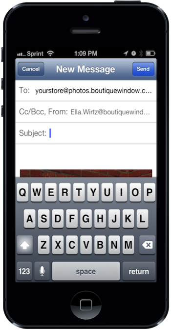 2 email photos to your personal bw email address