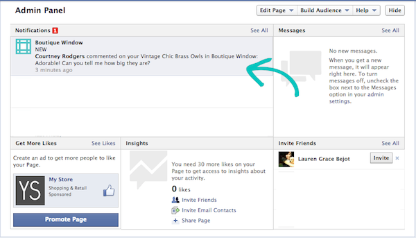 new email notifications Facebook