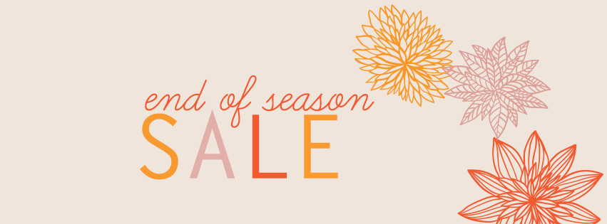 early fall theme end of season sale