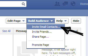 growing Facebook audience invite your email list