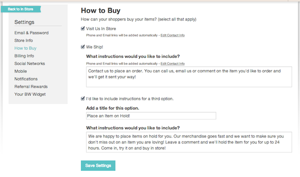 setting up your how to buy settings 2