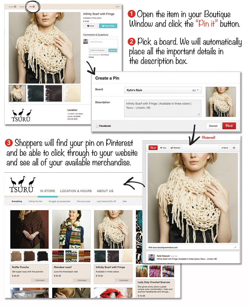 pinterest made simple how to pin items from your boutique window