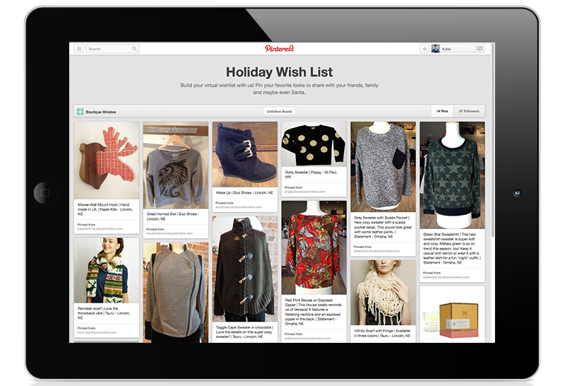 pinterest best practices holiday wishlist 2013