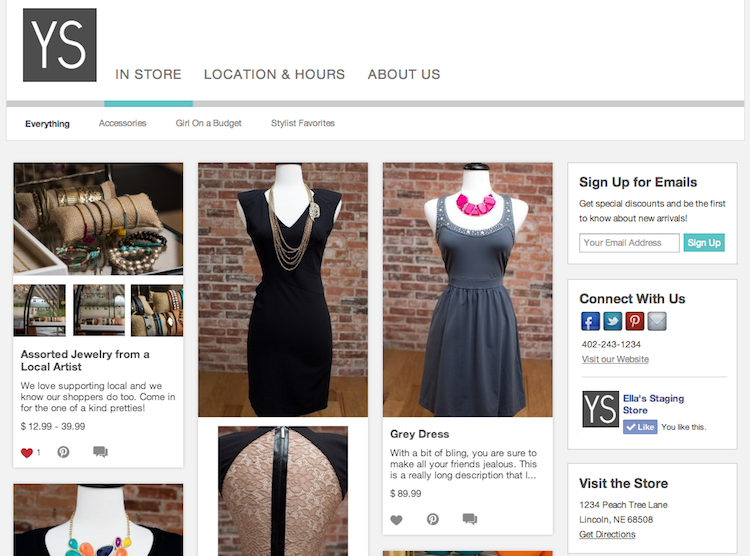 collect email addresses in your boutique window 2014