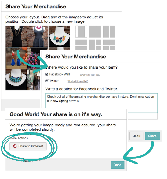 new feature easier sharing to pinterest 2014