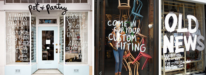 typography window display 2014