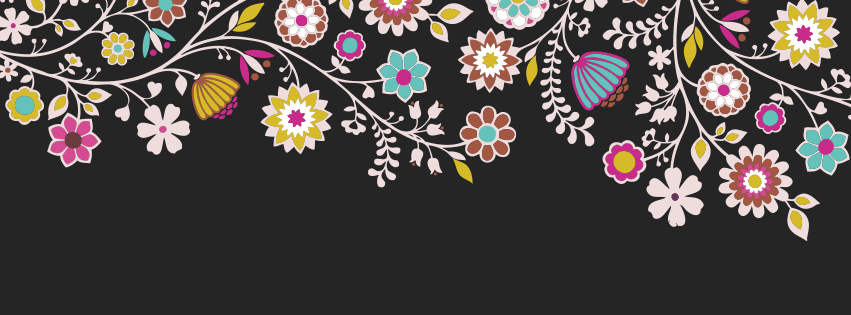 summer black colorful floral fb