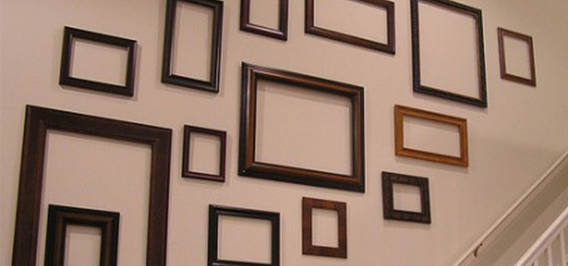 frame collage wall display inspiration june 2014