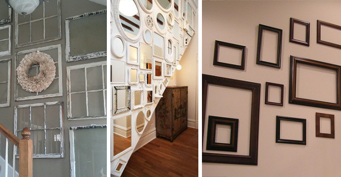 windows mirrors frames wall display inspiration june 2014