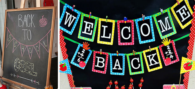 back to school display chalkboard inspiration 2014