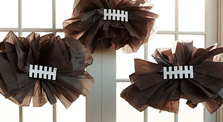 game day displays football pom poms 2014