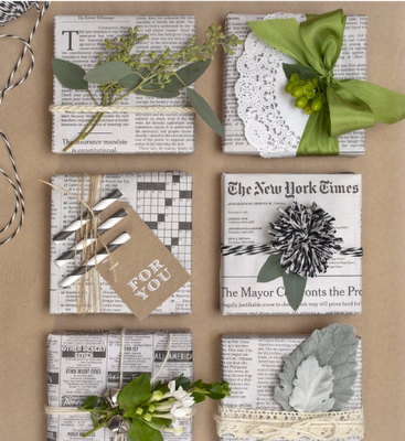 indie gift wrap newspaper 2014