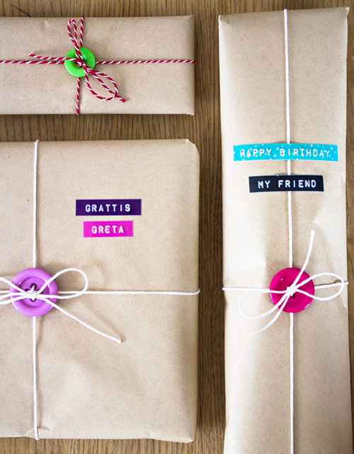 diy gift wrap add ornamental details 021