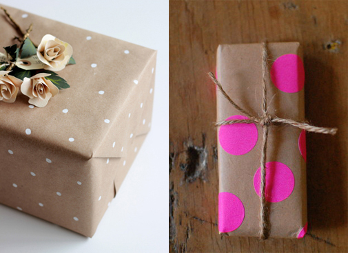 diy gift wrap add ornamental details 031
