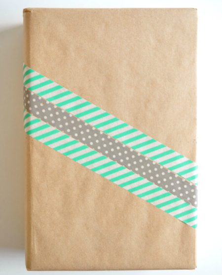 diy gift wrap add simple ribbon 021