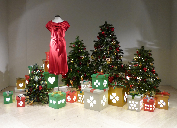 indie holiday displays christmas trees in the windows 02