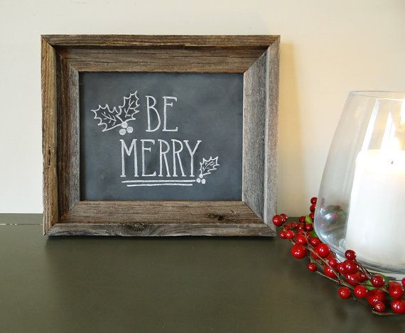 indie holidays chalkboards be merry 2014