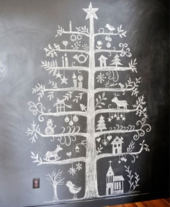 indie holidays chalkboards christmas tree 2014