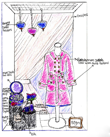 Why window displays matter boutique window for Window design sketch