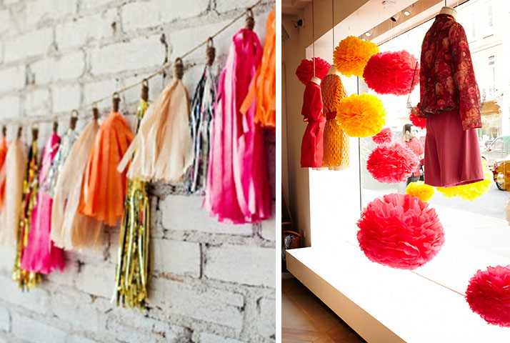 spring window display inspiration bright colors 2015