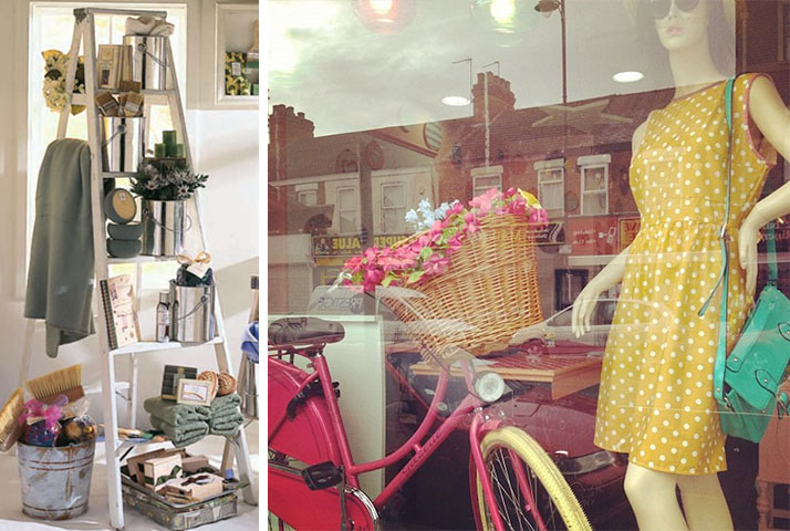 spring window display inspiration upcycles 2015