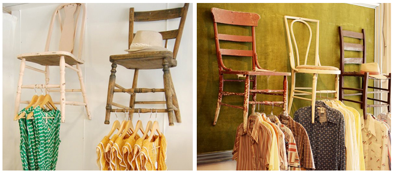 upcycled-and reclaimed displays chairs