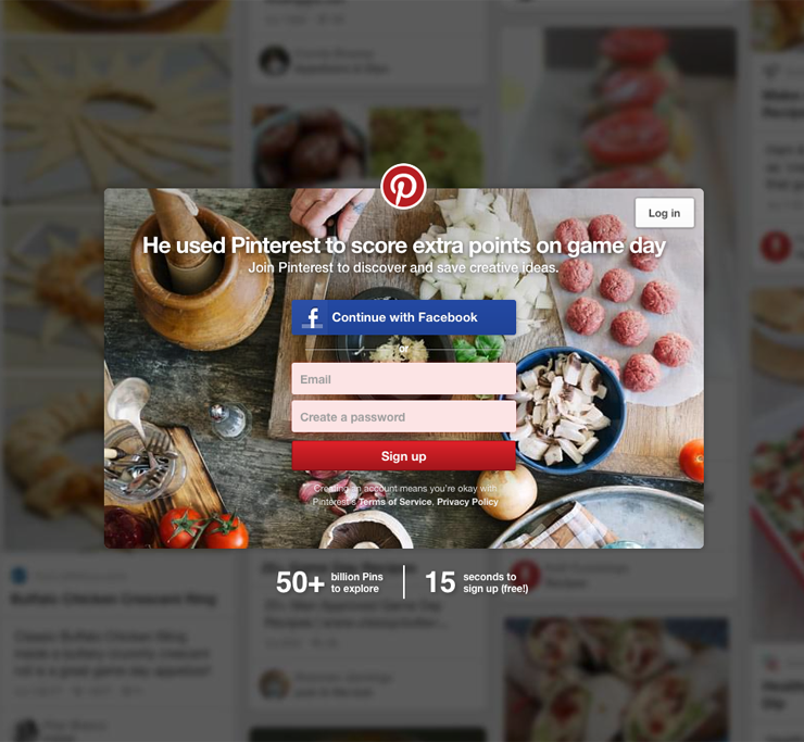 Login to your Pinterest account